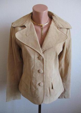 Sale! кожаный пиджак-куртка из натуральной замши barneys