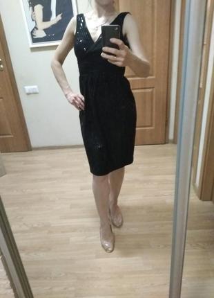 Великолепное платье, паетки! р. 42-44