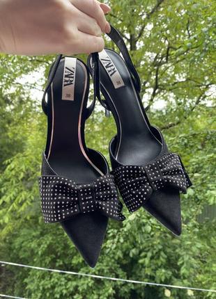 Лодочки туфлі туфли zara