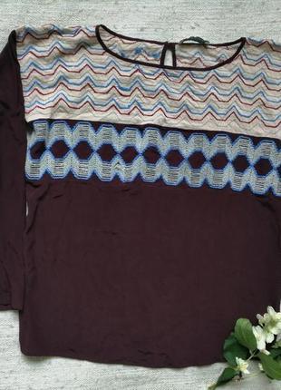 Шикарная шёлковая блуза дорогого итальянского бренда alysi