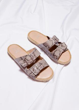 Женские сандалии с джутовой подошвой