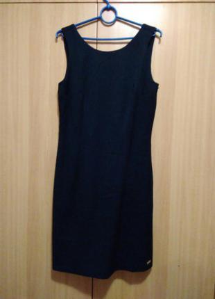 Темно-синий сарафан, платье на работу или в школу(университет), деловой стиль
