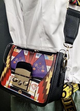 Черная, прозрачная сумка