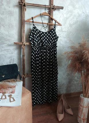 Плаття міді в горошок в білизняному стилі  bebe plus