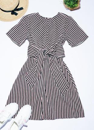Летнее платье-миди в полоску