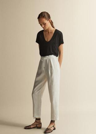 Новые брюки из льна massimo dutti