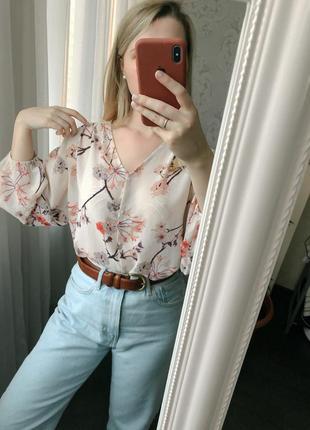 Блуза h&m с объёмными рукавами