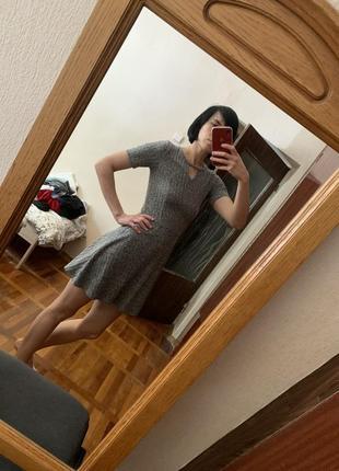 Платье миниатюрное трикотаж