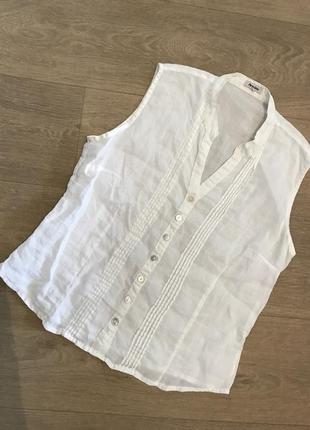 Белая блуза лён , р.м