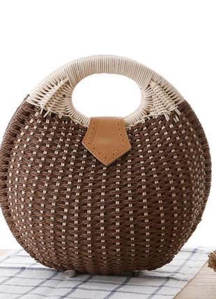 Соломенная сумка корзинка