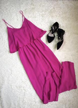 Комбинезон брючный, комбез лето, ромпер розовый, костюм лето