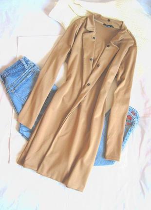 Идеальное легкое пальто кардиган кэмел boohoo