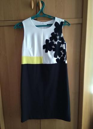 Платье новое нарядное классическое деловое черное белое incity s m купить украина киев