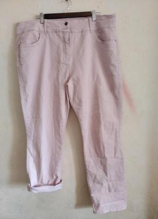 Классные джинсы пудрового цвета большой размер рост