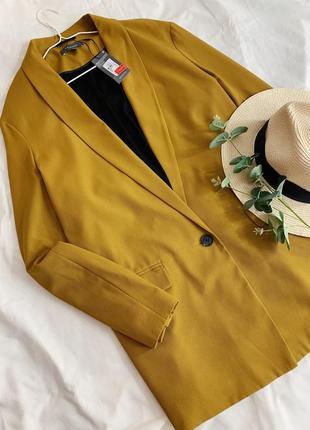 Горчичный пиджак primark