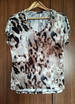 Женская футболка dex (сша), леопард, вискоза, размер s