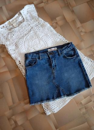Отличная джинсовая юбка для девочки.