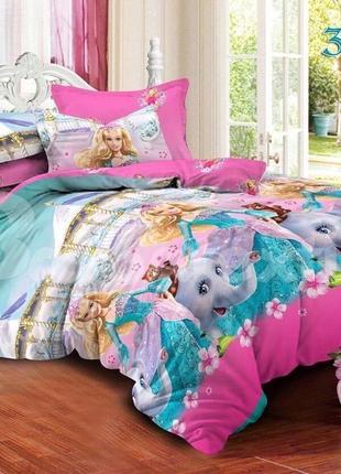 Полуторный комплект постельного белья для девочки
