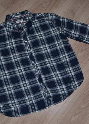 Женская рубашка tommy hilfiger р.s и больше чуть обьемная.