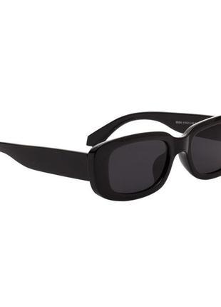 Очки окуляри винтажные в стиле 90-х трендовые черные солнцезащитные новые4 фото