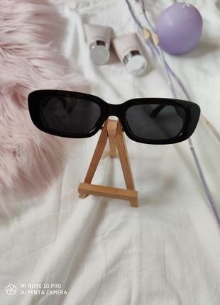 Очки окуляри винтажные в стиле 90-х трендовые черные солнцезащитные новые6 фото
