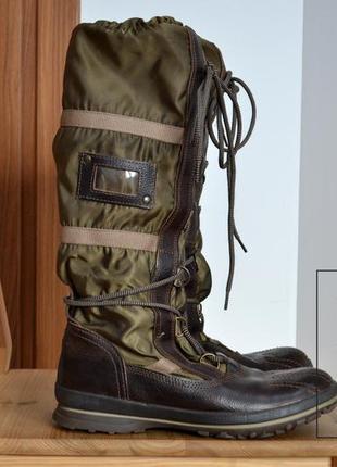 Ботинки женские tommy hilfiger, кожа зимние, водонепроницаемые.качество!!