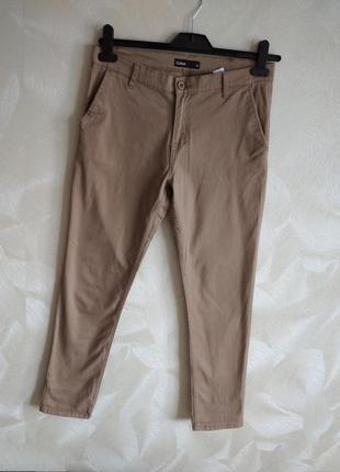 Летние бежевые джинсы скинни штаны
