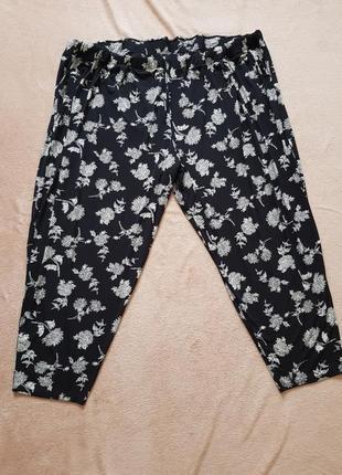 Легкие свободные трикотажные штаны размер 34 - 36