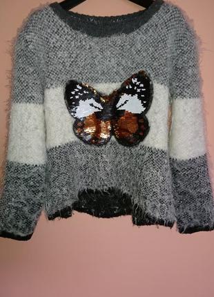 Тёплый свитерок на девочку