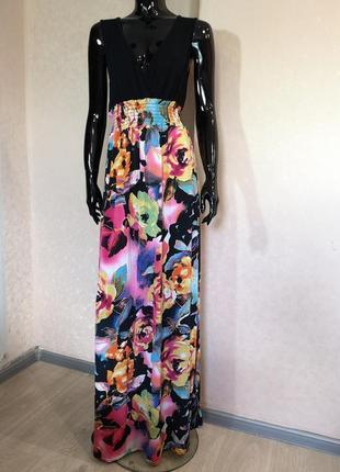 Длинный сарафан платье в пол boohoo