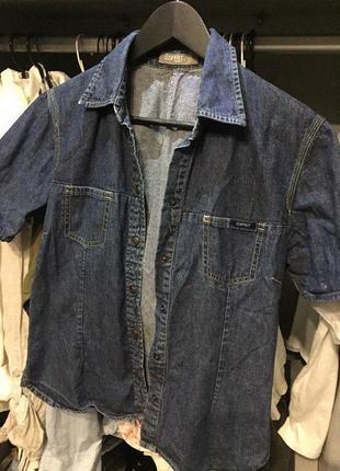 Фирменная джинсовая рубашка футболка джинсовка esprit
