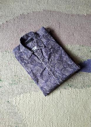 Рубашка сорочка в пижамном стиле большого размера хлопок марокко zara