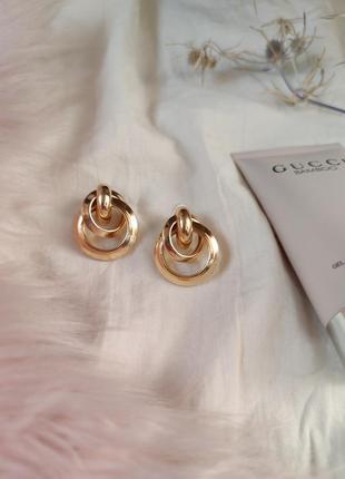 Cерьги серёжки винтаж винтажные ретро кольца под золото новые качественные8 фото