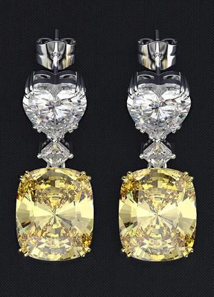 Очень и очень красиво цитрин огромный насыщенно желтый   серебро