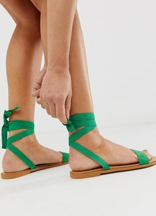 Босоножки сандалии с завязками асос asos