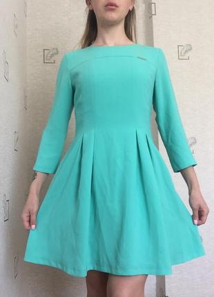 Платье легкое юбка солнце свободное рукав 3/4 распродажа