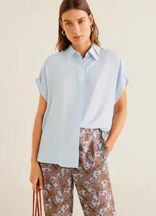 Рубашка женская л mango испания