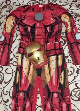 Карнавальный костюм железный человек светиться 9-10 лет