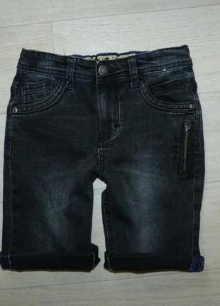 Джинсовые шорты черно-серого цвета denim 5-6 лет