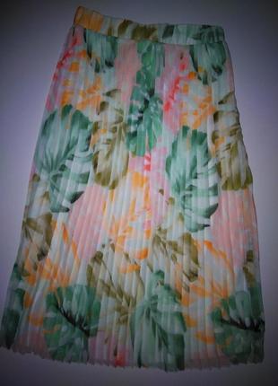 Юбка плиссе/миди юбка на лето