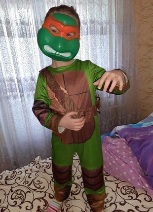 Карнавальный костюм черепашка ниндзя 5-6 лет