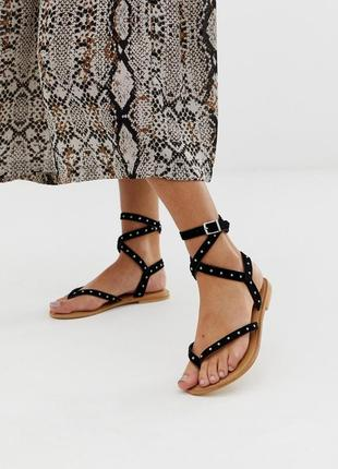 Натуральные замшевые босоножки сандалии асос asos