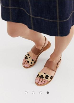 Натуральные кожаные босоножки сандалии асос asos