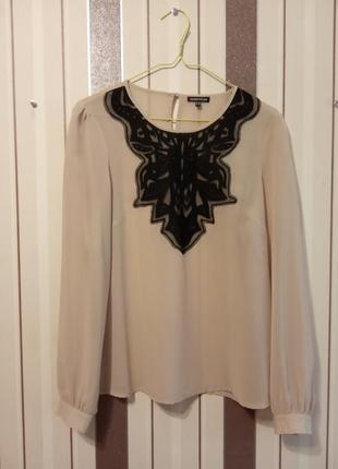 Красивая шифоновая блузка от warehouse