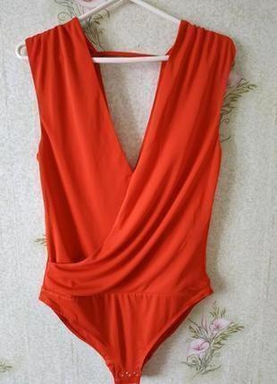 Новый женский коралловый боди # sale # боди блузка # h&m1 фото