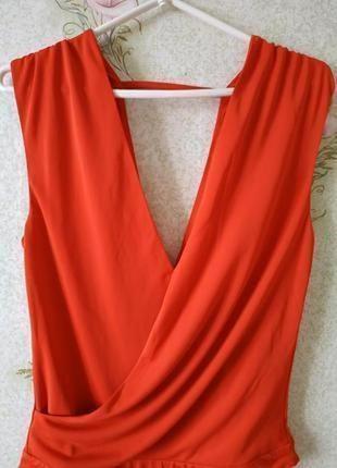 Новый женский коралловый боди # sale # боди блузка # h&m4 фото