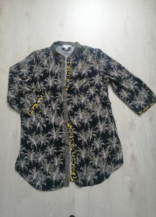 Лёгкая летняя рубашка три четверти рукав, летняя туника