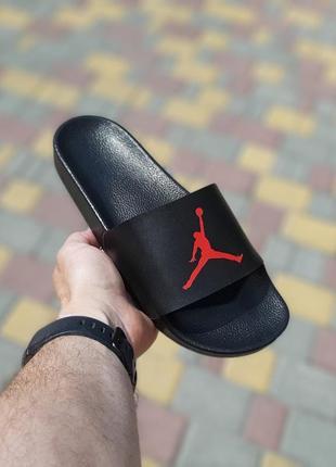 Сланцы мужские jordan, черные (джордан, шлепки, вьетнамки, шлепанцы, тапки, пляжная обувь)
