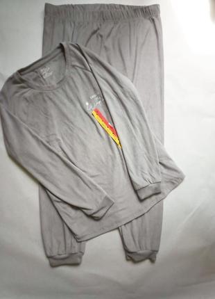 Шикарный комплект для дома и отдыха флисовая в рубчик пижама