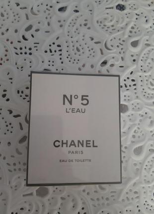 Chanel n5 leau - туалетная вода - 3x20 ml оригинал